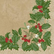 Duni Duni Klassikservietten Snowy Berries 40 x 40 cm 50 Stück