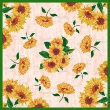 Duni Mitteldecke Dunicel® Sunflower Poem 84 x 84 cm 1 St.