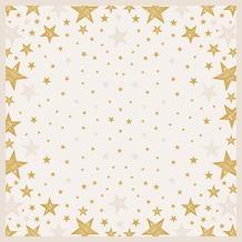 Duni Mitteldecke Shining Star Cream 84 x 84 cm