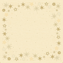 Duni Mitteldecken Dunicel® Star Stories Cream 84 x 84 cm 1 Stück