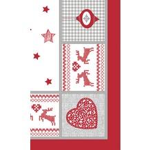Duni Mitteldecken Motiv Nordic Christmas 84 x 84 cm 1 Stück