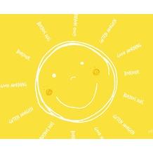 Duni Papier-Tischsets, Motiv Be Happy 30x40cm 250 St.