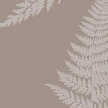 Duni Servietten 3-lagig Motiv Filix Greige 33 x 33 cm 20 Stück