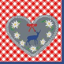 Duni Servietten 3-lagig Motiv Gingham Deer 33 x 33 cm 20 Stück