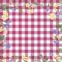 Duni Servietten 3-lagig Motiv Spring Table Pink 24 x 24 cm 20 Stück