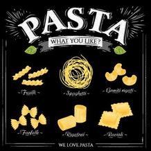 Duni Servietten 3-lagig Motiv We Love Pasta 33 x 33 cm 20 Stück