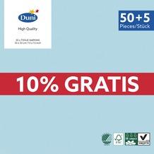 Duni Servietten 3-lagig Uni mint blue 33 x 33 cm 55 Stück