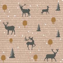 Duni Servietten Tissue Deer forest 33 x 33 cm 20 Stück