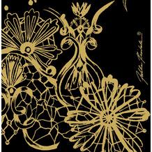 Duni Servietten Tissue Dolce Vita Black 24 x 24 cm 20 Stück