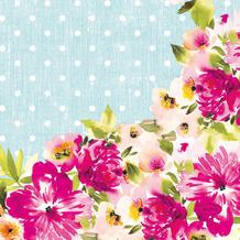 Duni Servietten Tissue Happy Florals 24 x 24 cm 20er
