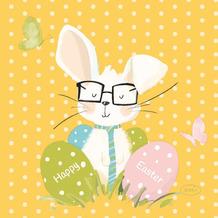 Duni Servietten Tissue Sir Bunny 24 x 24 cm 20er