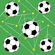 Duni Servietten Tissue Soccer Field 33 x 33 cm 20 St.