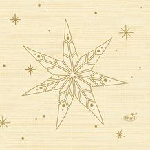 Duni Servietten Tissue Star Stories Cream 24 x 24 cm 20 Stück