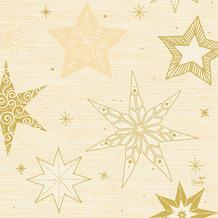 Duni Servietten Tissue Star Stories Cream 33 x 33 cm 20 Stück