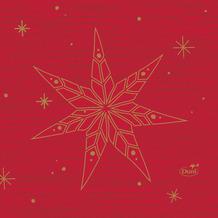 Duni Servietten Tissue Star Stories Red 24 x 24 cm 20 Stück
