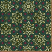 Duni Servietten X-Mas Deco Green 40 x 40 cm 12 St.