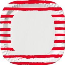Duni Teller Motiv Sketchy Stripe 22 x 22 cm 10 St.