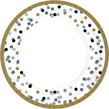 Duni Teller Pappe Dream Dots black ø 22 cm 10 Stück