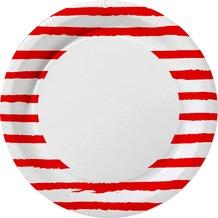 Duni Teller Pappe Red Stripe ø 22 cm 10 St.