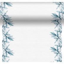 Duni Tischläufer 3 in 1 Dunicel® Blue Leaves 0,4 x 4,80 m 1er