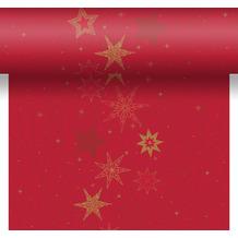 Duni Tischläufer 3 in 1 Dunicel® Star Stories Red 0,4 x 4,80 m 1 Stück