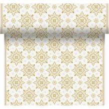 Duni Tischläufer 3 in 1 X-Mas Deco Cream 0,4 x 4,8 m
