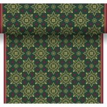 Duni Tischläufer 3 in 1 X-Mas Deco Green 0,4 x 4,8 m