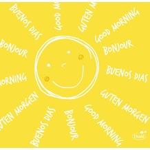 Duni Zelltuch-Serviette Motiv Be Happy 24x24 cm 3lagig, 1/ 4 Falz 250 St.
