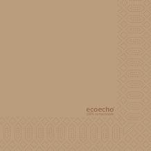 Duni Zelltuch-Serviette Motiv EcoEcho 33x33 cm 3lagig, 1/ 4 Falz 250 St.