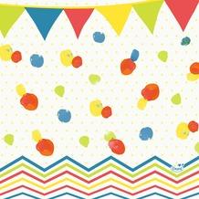 Duni Zelltuch-Serviette, Motiv Let's Party Flag 33x33 cm 50 St.