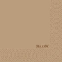 Duni Zelltuch-Serviette Uni EcoEcho 24x24 cm 2lagig, 1/ 4 Falz 300 St.