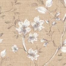 Duni Zelltuch-Servietten Floris 33x33 cm 3lagig, 1/ 4 Falz 50 Stück