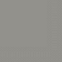 Duni Zelltuch-Servietten granite grey 33x33 cm 3lagig, 1/ 8 Kopffalz 250 Stück