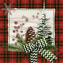 Duni Zelltuch-Servietten Naturally Christmas 33x33 cm 3lagig, 1/ 4 Falz 50 Stück
