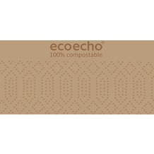 Duni Zelltuch-Servietten Uni EcoEcho 40x40 cm 2lagig, 1/ 8 BF 300 St.