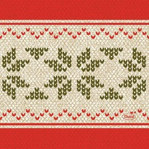 Duni Zelltuch-Servietten Urban Yule Red 24x24 cm 3lagig, 1/ 4 Falz 50 Stück