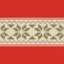 Duni Zelltuch-Servietten Urban Yule Red 33x33 cm 3lagig, 1/ 4 Falz 50 Stück