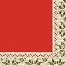 Duni Zelltuch-Servietten Urban Yule Red 40x40 cm 3lagig, 1/ 4 Falz 250 Stück