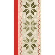 Duni Zelltuch-Servietten Urban Yule Red 40x40 cm 3lagig, 1/ 8 Falz 250 Stück