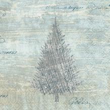 Duni Duni Zelltuchservietten Blue Winter 33 x 33 cm 50 Stück