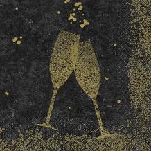 Duni Duni Zelltuchservietten Celebrate Black 33 x 33 cm 250 Stück