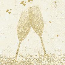 Duni Duni Zelltuchservietten Celebrate White 24 x 24 cm 50 Stück