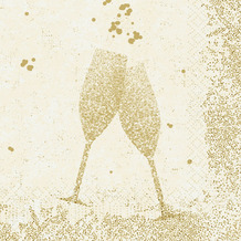 Duni Duni Zelltuchservietten Celebrate White 33 x 33 cm 50 Stück