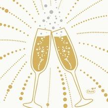 Duni Zelltuchservietten Festive Cheers White 24 x 24 cm 3-lagig 1/ 4 Falz 50 Stück
