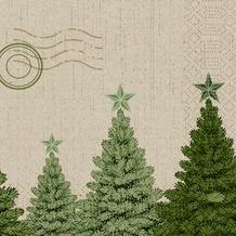 Duni Zelltuchservietten Fir Forest 33 x 33 cm 50 Stück