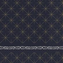 Duni Duni Zelltuchservietten Glitter Black 33 x 33 cm 50 Stück
