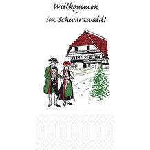 Duni Zelltuchservietten Schwarzwald 33 x 33 cm 1/ 8 Kopffalz 250 Stück