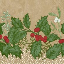 Duni Duni Zelltuchservietten Snowy Berries 24 x 24 cm 50 Stück