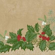 Duni Duni Zelltuchservietten Snowy Berries 33 x 33 cm 50 Stück