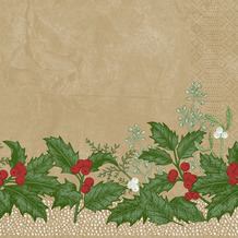 Duni Duni Zelltuchservietten Snowy Berries 40 x 40 cm 250 Stück